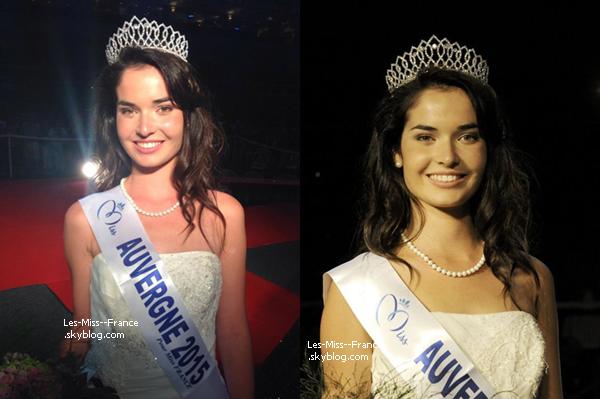 Miss Auvergne 2015 est Pauline Bazoge