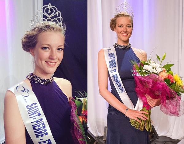 Miss Saint Pierre et Miquelon 2015 est Julie Briand