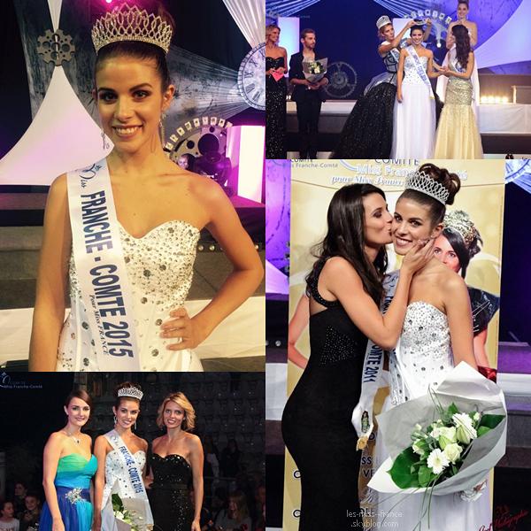 Miss Franche Comté 2015 est Alizée Vannier