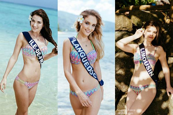 Partie 1 | Découvrez le portrait en maillot de bain de 15 candidates à Miss France 2016