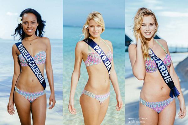 Partie 2 | Découvrez le portrait en maillot de bain de 16 candidates à Miss France 2016