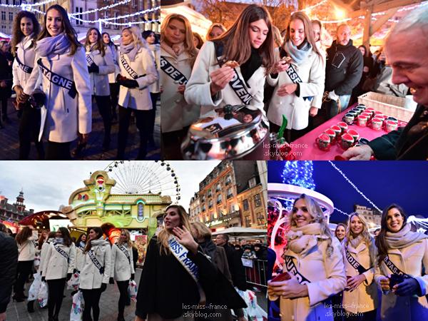 06 Déc. 2015 | Camille, Sylvie et les 31 miss au Marché de Noël à Lille.