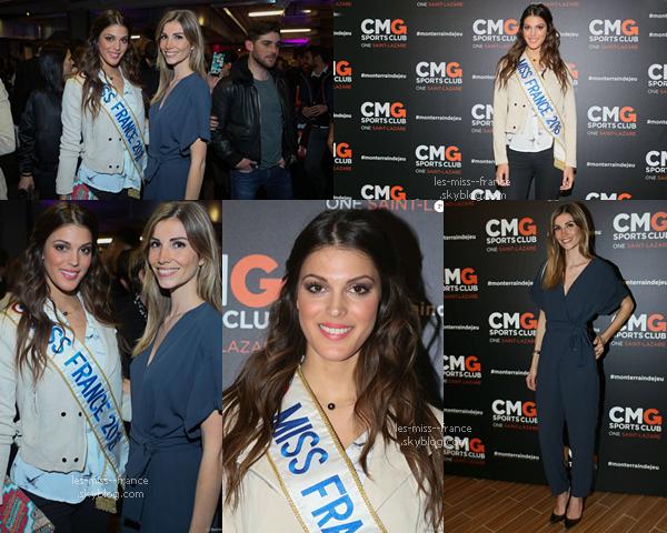 28 Avril 2016 | Iris et Alexandra étaient à l'inauguration du CMG Sports Club ONE à Paris.