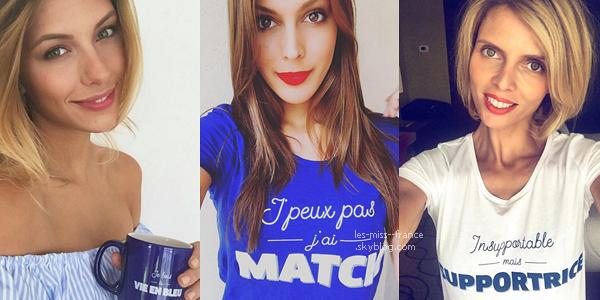 10 juin 2016 | Les miss soutiennent les bleus pour le match de ce soir !