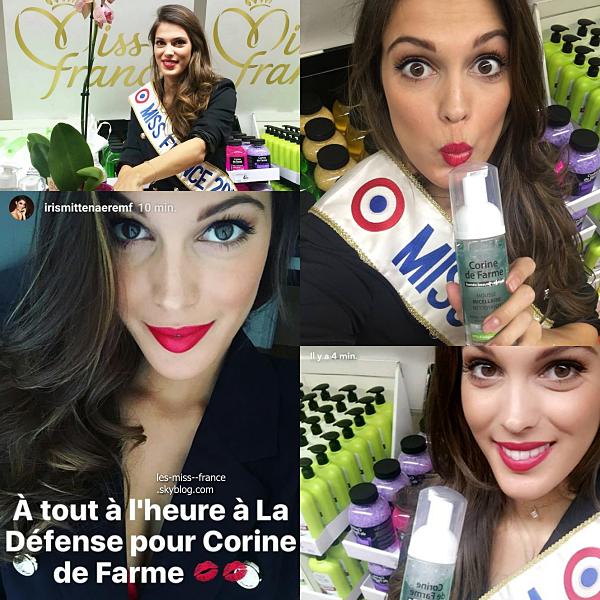 19 Oct. 2016 - Iris était en séance de dédicace à la Défense pour Corine de Farme.
