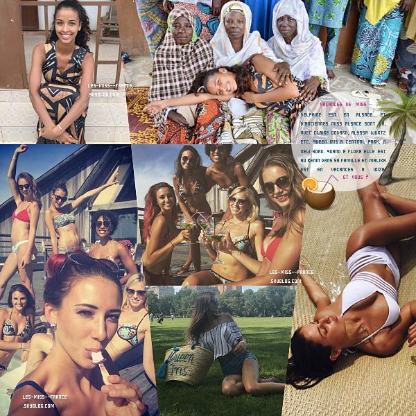 Les vacances des miss / Mes vacances d'été 2017