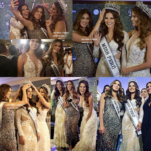 23 Sept. 2017 | Iris était à l'élection de Miss Pérou