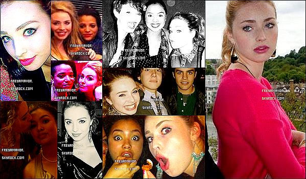 .   ● ● Toutes les photos personnelles de Freya lors de son tournage pour Skins.   .