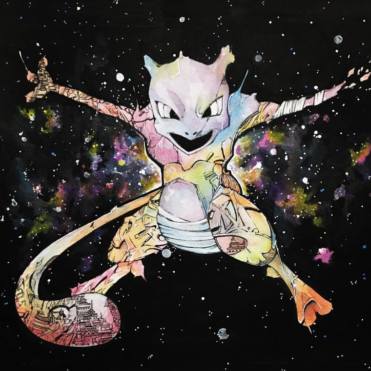 Fan art mewtwo