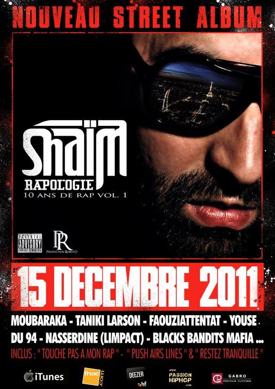 """STREET ALBUM """"RAPOLOGIE 10 ANS DE RAP vol.1"""" 15 DECEMBRE 2011"""
