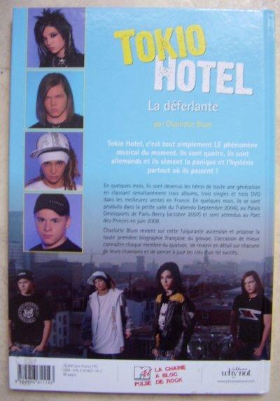 Premier article en vente. Livre sur Tokio Hotel.