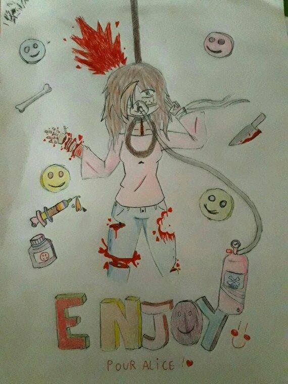 Fan art de Enjoy pour Alice ! ( Oui j'ai mis beaucoup de temps ! )