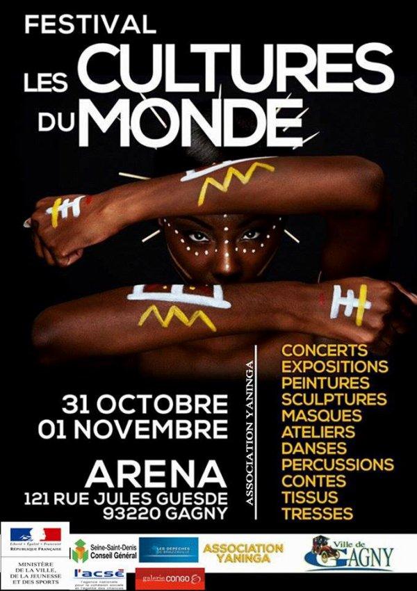 """FESTIVAL """"LES CULTURES DU MONDE"""" LE 31/10/2015 A GAGNY"""