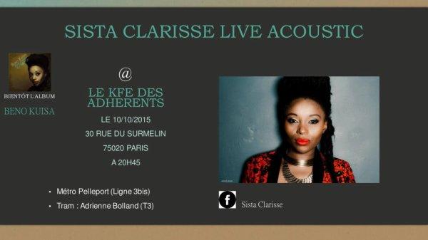 Sista Clarisse Live Acoustique