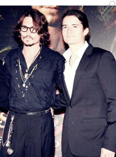 Johnny Depp et Orlando Bloom