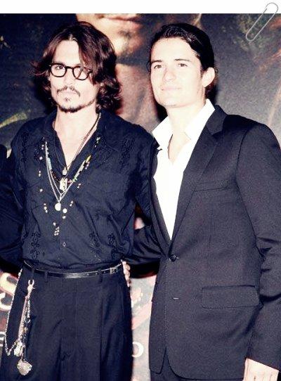 Johnny Depp et Orlando Bloom