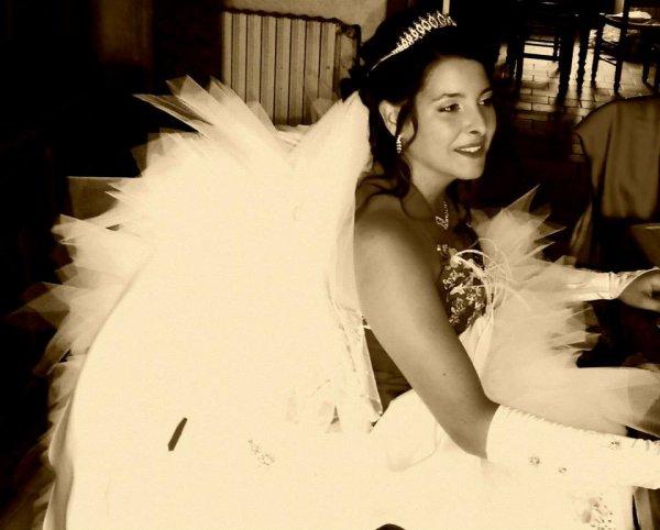 Moi dans ma robe de marier