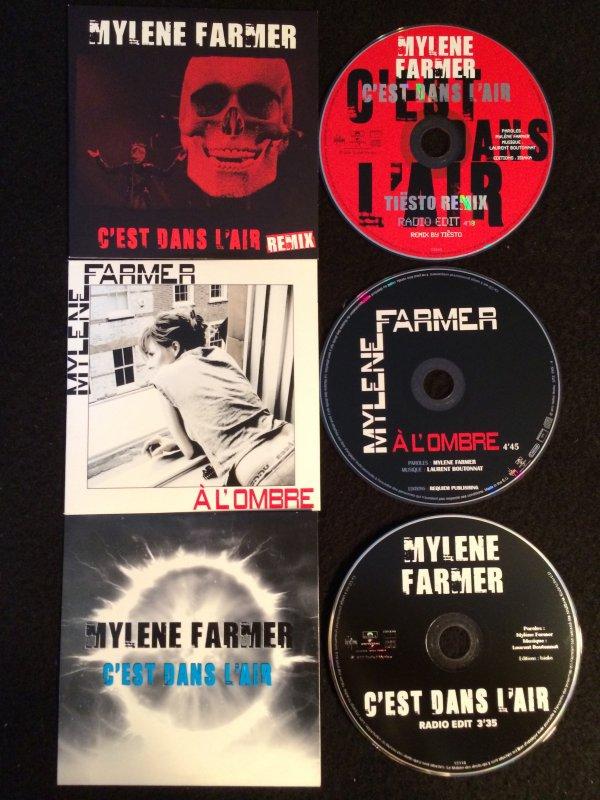 CD Promo C'est dans l'air / A l'Ombre / C'est dans l'air Live tête de mort rouge