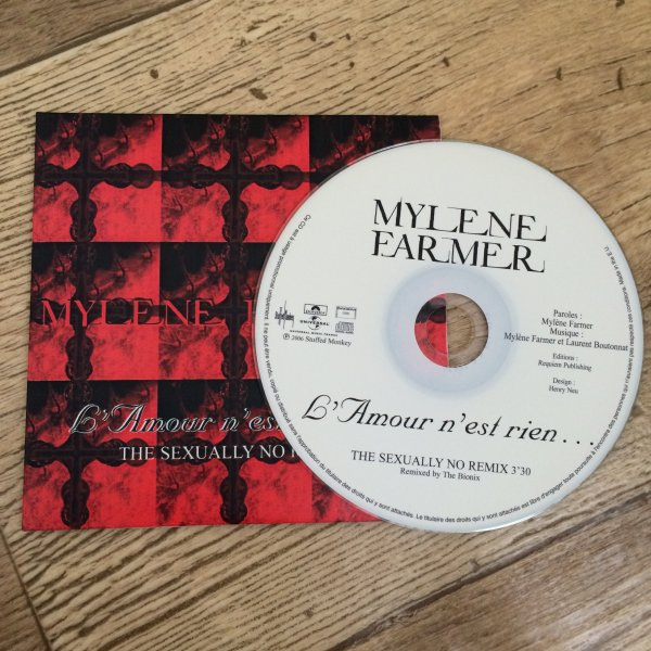 "CD PROMO ""L'Amour n'est rien... THE SEXUALLY NO REMIX"""