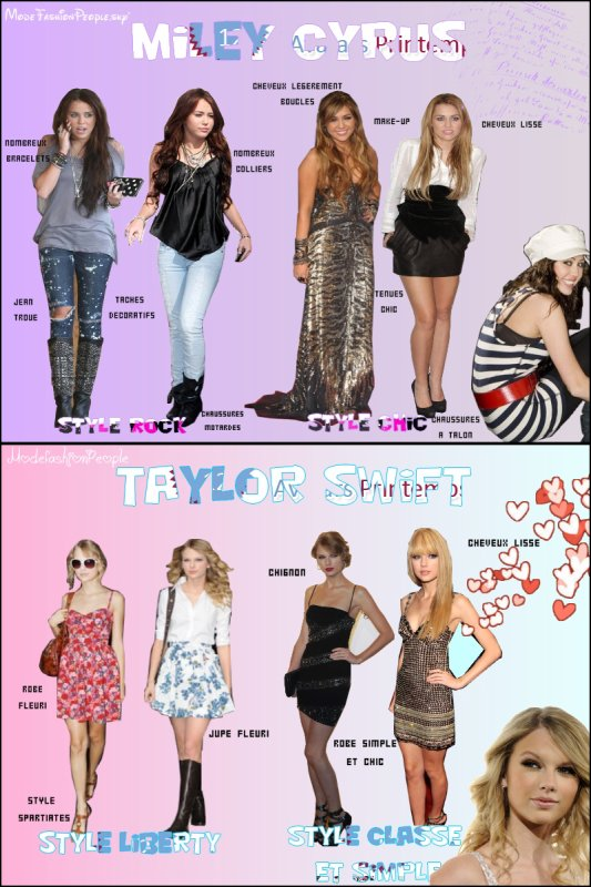 Tu es plutôt le look de Miley ou de Taylor ?