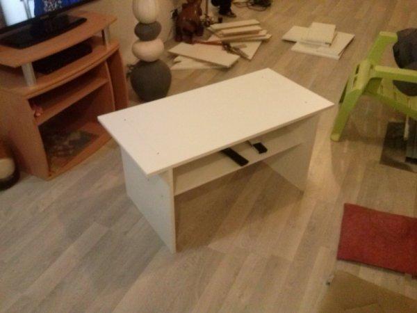 table basse avec chute de bois