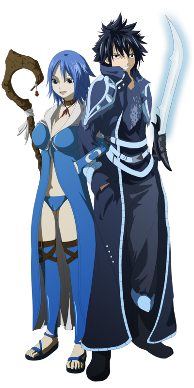 Les Couples De Fairy Tail : Evergreen - Elfman  ♥   &  Juvia - Grey  ♥