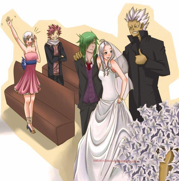 Les Couples De Fairy Tail : Mirajane - Fried  ♥   &   Natsu - Lisanna  ♥