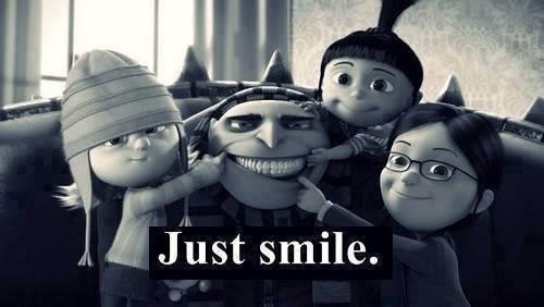Sourire c'est comme bâiller, c'est communicatif alors arrête de râler, et souris !