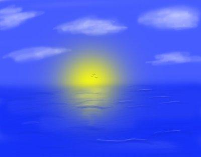Coucher de soleil espace dessin de deffight alias - Coucher de soleil dessin ...