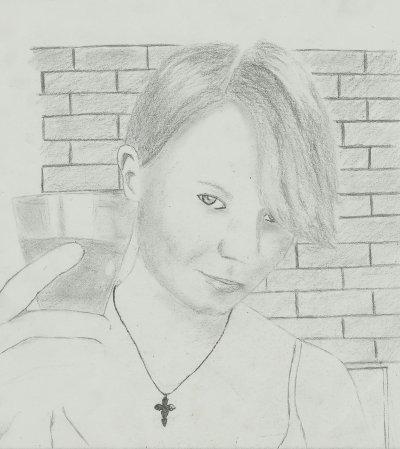 Une belle blonde au crayon