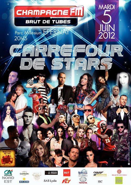 """Demain Jean-Roch sera  en live à Epernay avec Champagne FM pour le """"Carrefour de Stars"""" au Parc Millésium dès 20h15"""