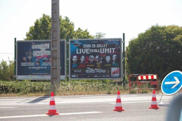 Jean-Roch Affiche Urbaine concert du 26 juillet 2012 Au Castellet