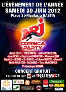 Jean-Roch à NRJ Corsica party 2012 le 30 juin à Bastia