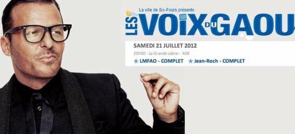 """Jean-Roch  vous attends le Samedi 21 Juillet au Festival """"Les voix du Gaou"""" à Six-fours"""