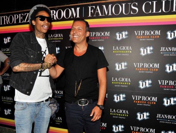Jean-Roch Avec Wiz Khalifa avant son live exclusif au Vip Room Saint-tropez le 13 juillet 2012