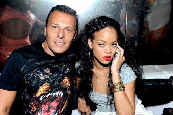 Jean-Roch hier le 21 juillet En compagnie de Rihanna hier soir au Vip Room de Saint-tropez