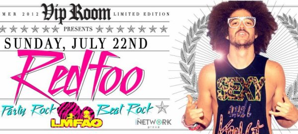 "Ce Soir Party Rock is in the house tonight !! Redfoo exclusive dj set feat. the Party Rock crew !! at ""VIP ROOM"" Saint-tropez"