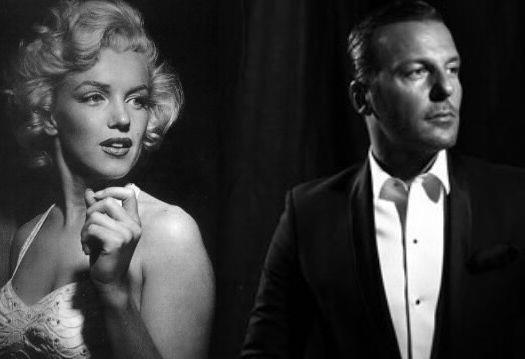 Marilyn Monroe  & Jean-Roch  Pedri ( photo montage by Tarra Le Noir et blanc  )