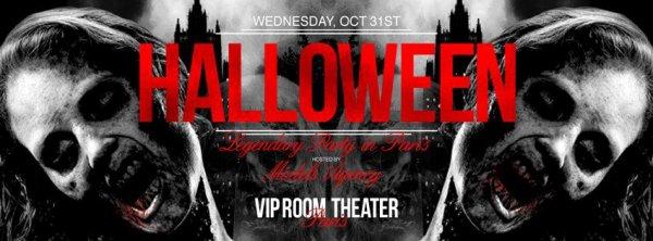 Le Vip Room Paris fete Halloween le 31 octobre réserve dès maintenant tenues effrayantes acceptées plus d'infos sur la page Officielle du Vip Room sur FACEBOOK MERCI