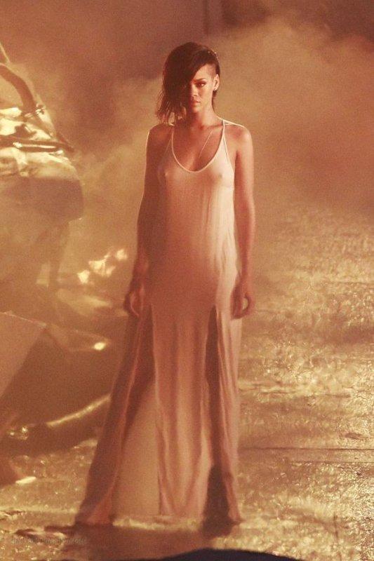 "Photo du plateau du prochain clip de Rihanna, ""  Diamonds """