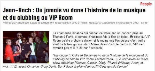 Jean-Roch : Du jamais vu dans l'histoire de la musique et du clubbing au VIP Room