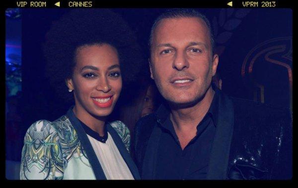 Jean-Roch & Friends Au Vip Room Cannes 2013  Mila Jovovich , Sean Paul , Solange Knowles ( Petite Soeur De Beyoncé ) , Timati