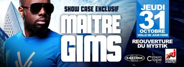 JEUDI 31 OCTOBRE : Maitre Gims EN SHOW CASE AU MYSTIK CLUB PLACES LIMITÉES AVEC NRJ Marseille Dès 23:55