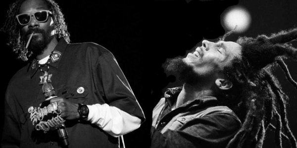 Snoop Dogg , Bob Marley  Noir et Blanc ( Montage By Blandine-Tarra )