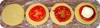 Feuilletés tomate et chèvre