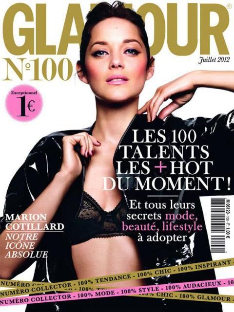 Le magazine Glamour fête son 100éme numéro avec Marion Cotillard !