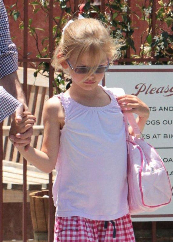 Ben Affleck et ses filles Seraphina et Violet à Santa Monica,