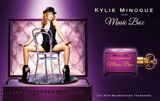 "Le nouveau parfum de Kylie Minogue ""Music Box"""
