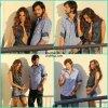 Alessandra Ambrosio et Ashton Kutsher dans les coulisses de leur photoshoot pour la marque de vêtement Colssi. Dimanche, 17 juin