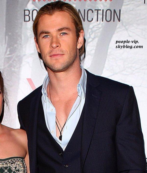 Kristen Stewart et Chris Hemsworth à la première de Blanche Neige Et Le Chasseur au cinéma Bondi Junction à Sydney, en Australie. Mardi, 19 juin